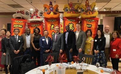Director General Jerry Chang attends the 2020 Asian Avenue Magazine Lunar New Year Dinner