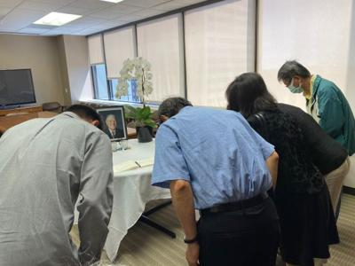 Representatives of TAAC pay respect to Taiwan's former President Lee Teng-Hui